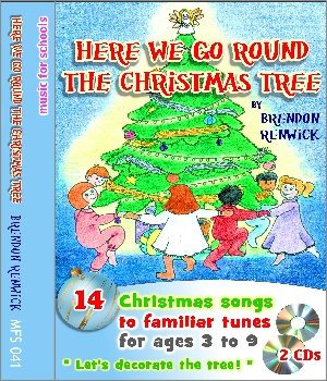 School Christmas Songs to easy tunes for ages 3 to 9.